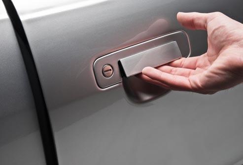 Car door handle hand Interior Door Strong Automotive Merchandising Grabbing The Door Handles Strong Automotive Merchandising