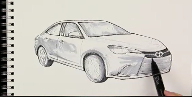 Toyota Camry Sketch - Strong Automotive