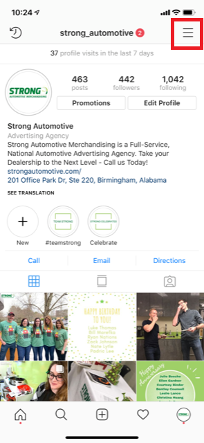 Strong Automotive Merchandising Instagram Profile