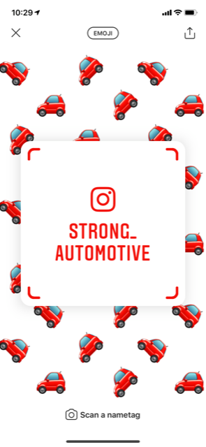 Strong Automotive Instagram Nametag